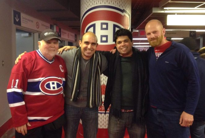 Ron, Norton, Helielber, Mike at Bell Center